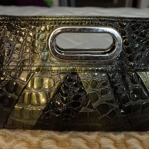Lane Bryant Crocodile Design Evening Clutch